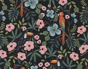 Pre-order: Paradise Garden in Midnight by Rifle Paper Co. from the Menagerie collection for Cotton and Steel #8028-1 by 1/2 yard