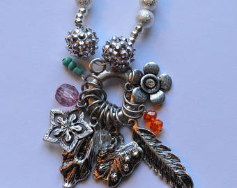 Mulitple Charm Dangle Necklace