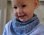 Blue dribble bib baby ban...