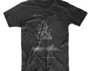 Ski Boots Patent T Shirt, Ski T Shirt, Winter Shirt, Snow Ski Shirt, Sports Shirt, PP1037