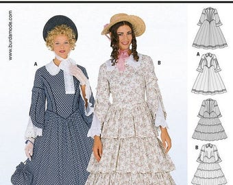 2768 Burda Style, History 1848, Victorian dress, Civil War Dress, Historical gown, historical costume