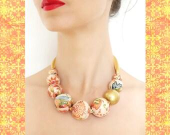 Lovely Pattern Beaded Necklace