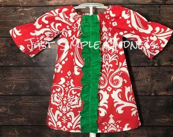 Girls Christmas Dress, Ready to ship, 12-18 months Dress