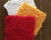 DISH SCRUBBIE, pot scrubber,  cleaning scrubbies, cloths & sponges, cleaning supplies, facial exfoliator, crocheted scrubbies, dishcloth,
