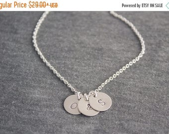 Close Out Sale Personalized Initial Charm Sterling Silver Necklace