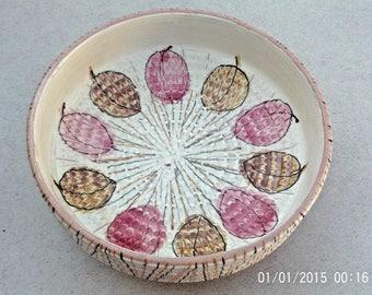 Mid Century BITOSSI ALDO LONDI Era Art Pottery Bowl Italy