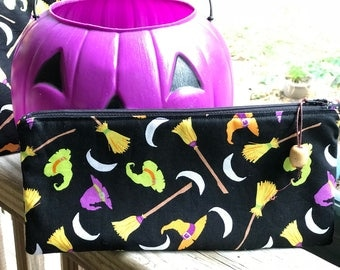 Hocus Pocus Halloween Zipper Pencil Pouch Clutch