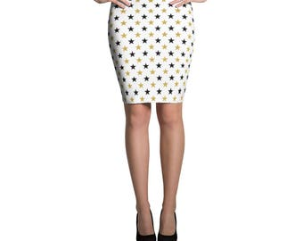 New Year Day 2018 Pencil Skirt