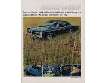 Vintage Poster advertisement for a 1966 Pontiac LeMans - 46