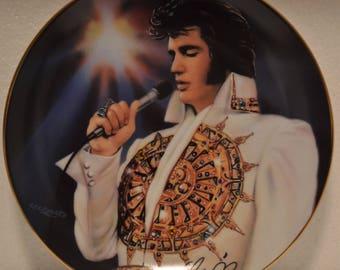Bradford Exchange Jeweled Remembering Elvis The Dream Porcelain Plate
