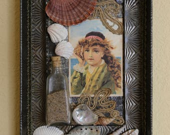 The Shell Gatherer - Found Object Assemblage