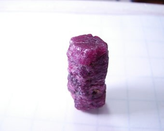 Ruby Crystal 70.95 Cts, Natural untreated unheated. 29 mm x 14.5mm x 13mm. Origin- Mined at Karnataka, India. Natural Termination