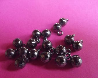 buttons-balls 8mm in diameter, heavy, shiny metal, with tail