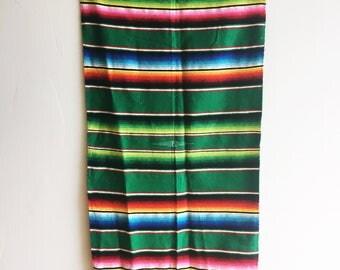 Mexican Serape Green
