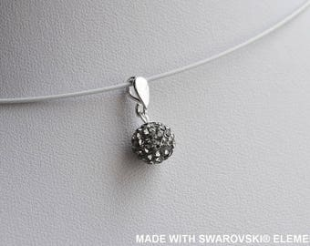Grey SWAROVSKI Ball pendant / 925 sterling silver