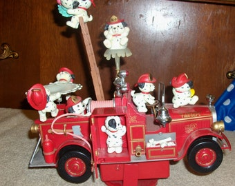 Enesco On the Spot Fire Engine action and musical