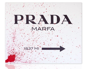 Modern painting Classic Design Prada Marfa Red - ready to hang - wall art decor - wall pictures - home decor - paintings art canvas