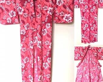 Yukata in dark pink