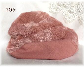 Italian Viscose Plush Fabric Fur Hand Dyed Colour (705) 8-9 mm pile 1/8 m teddy bear making supplies