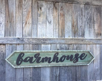 Large farmhouse framed wooden sign, decor, magnolia font sign, neutral green fall 2017