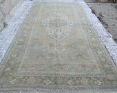 Vintage Turkish  Oushak    RUG  148x80
