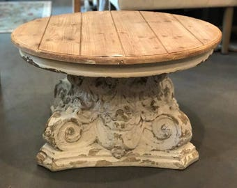 Rustic Coffee Table Round Coffee Table French Country Table