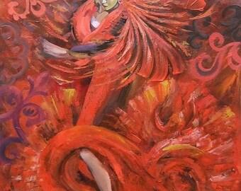 Picture Original Oil Painting Flamenco
