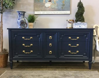 AVAILABLE: Navy Painted Dresser