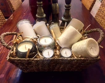 Candle Hamper - Mixed Scented Candles