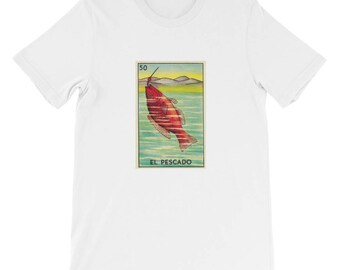 Mexico_card deck_fish Short Sleeve Men's T-Shirt travel vintage