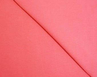 Coral plain cotton spandex jersey (in multiples of 20cm) fabric