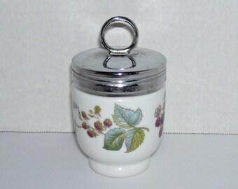 Vintage Royal Worcester Egg Coddler Lavinia Berries Pattern