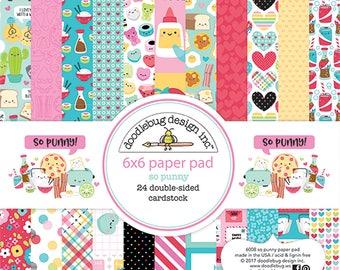 Valentines So Punny  6×6 PAPER Pad by Doodlebug Design
