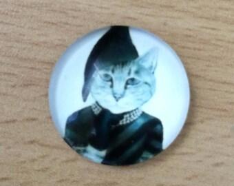 nice pattern 03 cat glass cabochon pendant