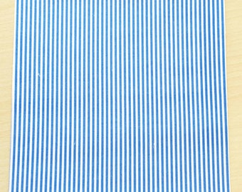 Fabric adhesive pattern: striped blue 210 x 290 mm (A4)