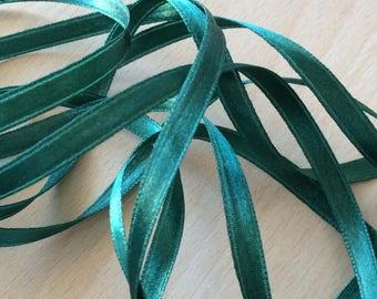 pretty green colored 608 satin ribbon