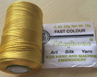 Rayon thread / artificial silk 142 mustard