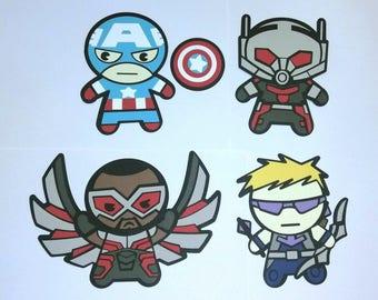 Marvel's Team Captain America Kawaii-style Die Cut Set