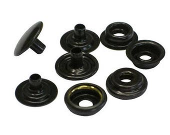 "50 Qty  C.s.osborne K4713-16-c Copper Black Brass Snaps, Size 24 Snaps 5/8"""