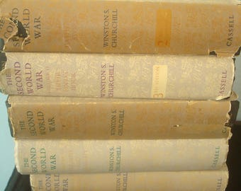 Set of 6 The Second World War  1st Editions by Winston S Churchill.
