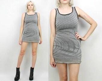 90s Silver Sparkly Mini Dress, Size Small, Space Dress, Swirly,Metallic, Extra Small, Tank Dress, Rave, Raver, Club Kid, Party Dress