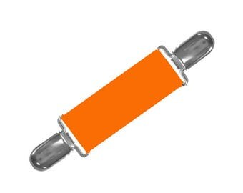 DRESS CLIP - ORANGE Elastic - Gold or Silver Cllps - Cinch the Backs of Clothing