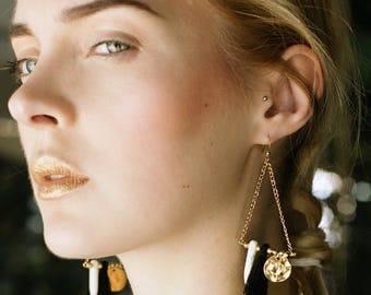 Cahaya earrings gold end 24 carat gold