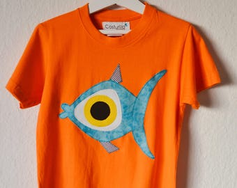 Fish tshirt for kids, Funny doodle fish. Under sea life shirt. Ocean. Happy kids Costurilla Tshirt