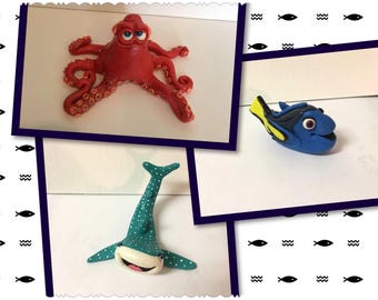Finding Dory Fondant Toppers