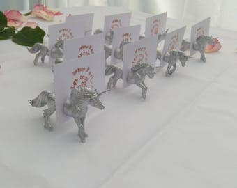Unicorn magnetic place card holders