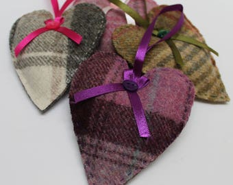 Tweed Lavender Heart, Lavender Sachet, Lavender Heart, Lavender Pillow, Dried Lavender Gift, Tweed Lavender Bag, Wedding Favours