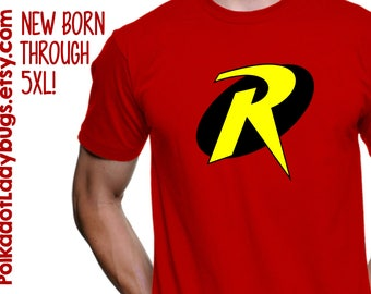 Robin Symbol Batman and Robin T-shirt -  New Born through 5XL Available