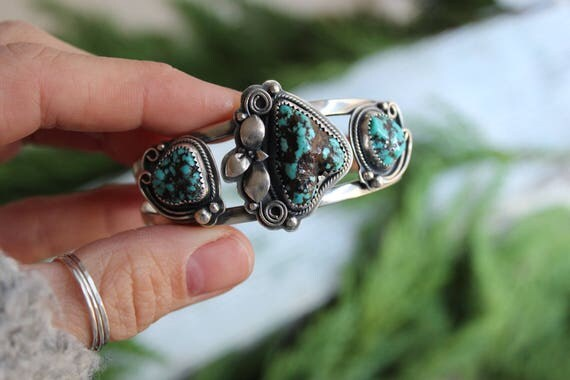 Alacron Nugget Turquoise Succulent Cuff