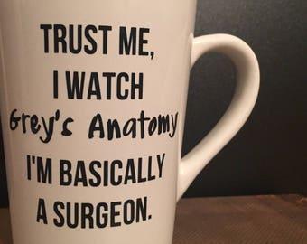 I'm Basically a Surgeon. Greys Anatomy Coffee Mug